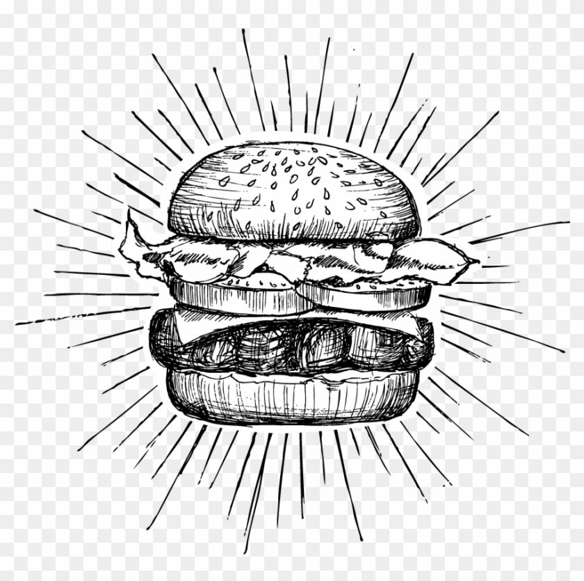 Find Hd Your Message Burger Drawing Hd Png Download To Search And Download More Free Transparent Png Image Burger Drawing Drawings Food Illustration Design