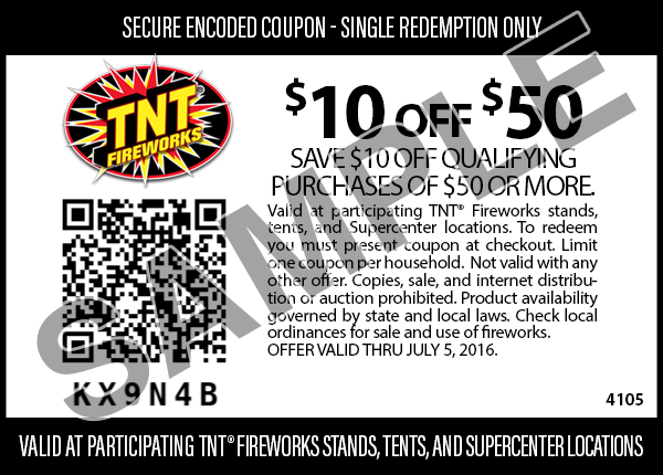 photo about Tnt Fireworks Coupons Printable titled First TNT fireworks Coupon codes, Fireworks
