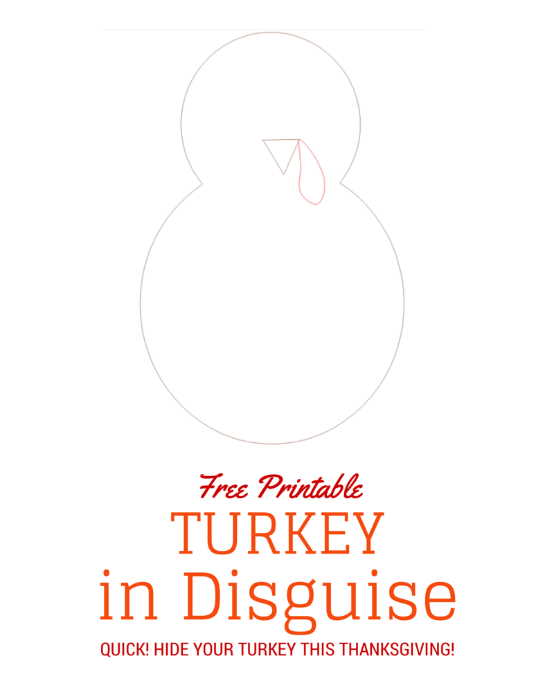 Turkey in Disguise Free Printable Template | Kind