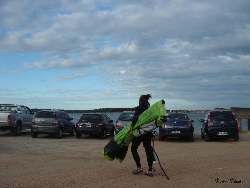 About to kitesurf