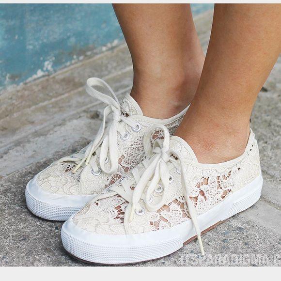 Superga cream lace sneakers | Lace