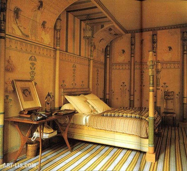 Lovely Bedroom In The Egyptian Style