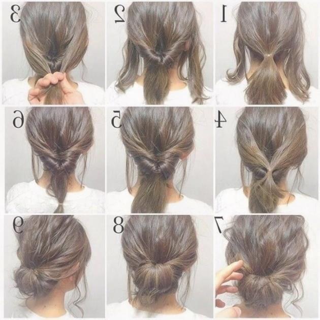 Frisch Einfache Frisuren Schulterlanges Haar Grafiken Frauen Haare Hochsteckfrisuren Lange Haare Braune Haare Frisuren Frisur Hochgesteckt