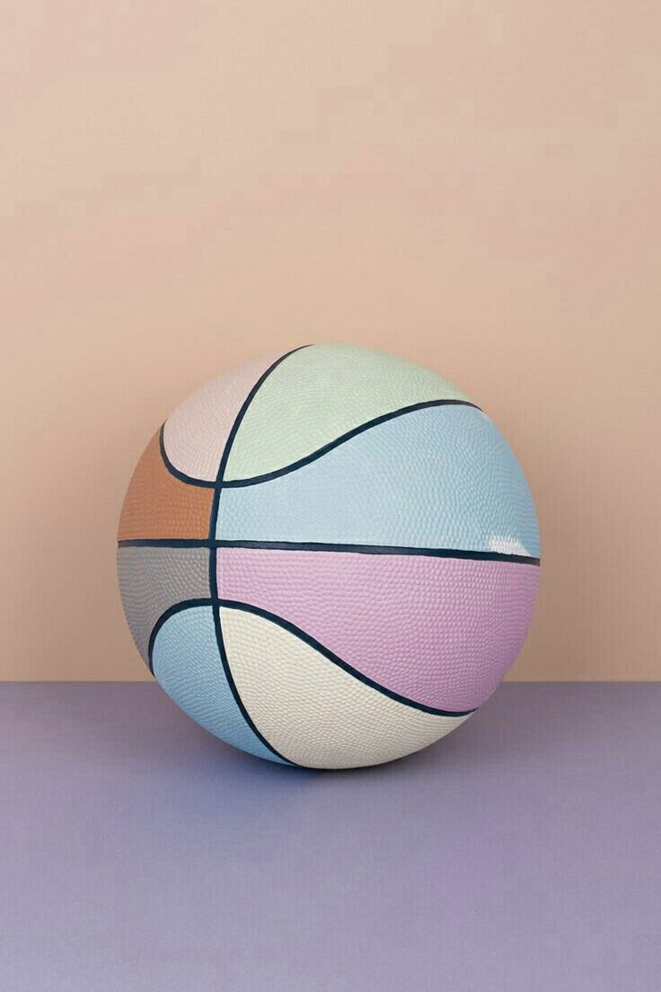 Multi Colored Pastel Basketball Pop Art Basketball Color Crush