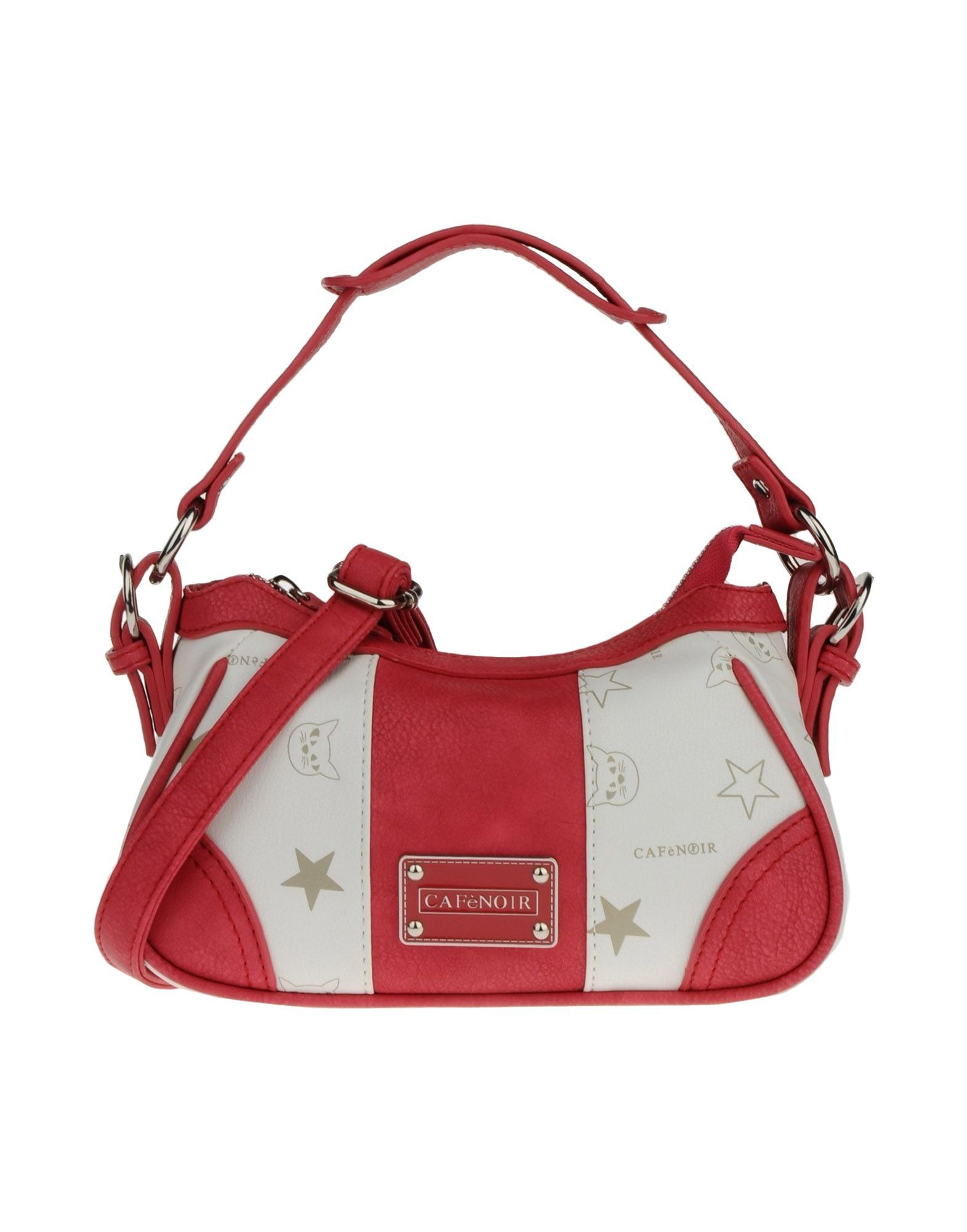 Cafe Noir Coral White Mini Shoulder Bag w Silver Hardware  c7452f00d24