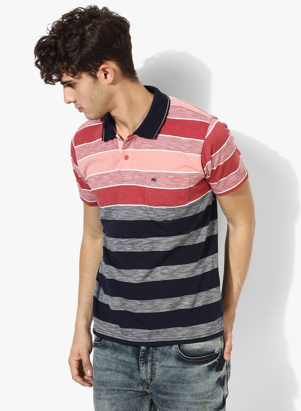 3c31b4231 Buy Monte Carlo Multicoloured Striped Regular Fit Polo T-Shirt for Men  Online India, Best Prices, Reviews | MO514MA85QLFINDFAS