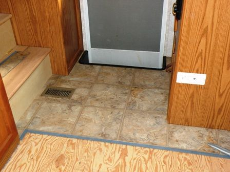 Our Rv Flooring Replacement With Allure Vinyl Tile Makes A Huge