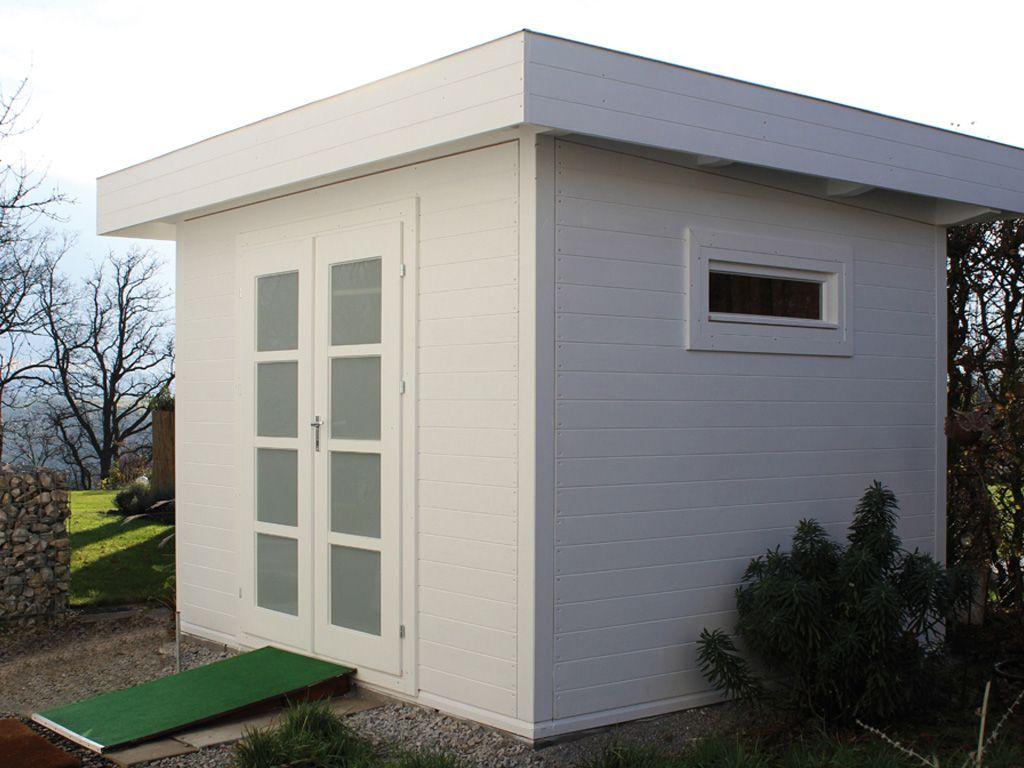 gartenhaus mit flachdach holz 3 0 x 2 5 m robert geiger. Black Bedroom Furniture Sets. Home Design Ideas