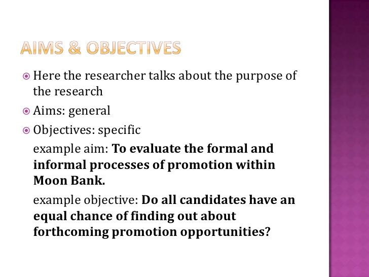 Writing A Research Proposal Objective Dissertation