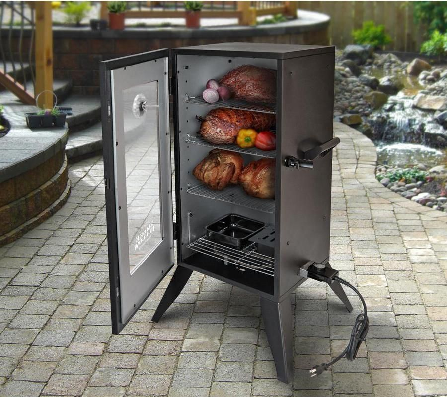 Electric Meat Smoker BBQ Grill Vertical Barbecue Outdoor Cooker Backyard  Patio #BBQSmokersCollection