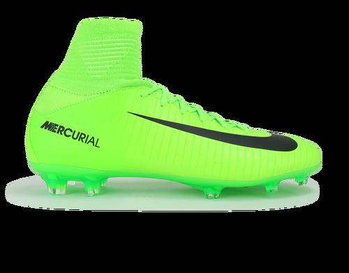 b4a1eb441246 Nike Kids Mercurial Superfly V FG Electric Green Black Flash Lime ...