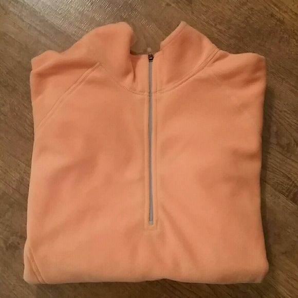 Saturday Sale! L.L.Bean Lightweight Fleece Never worn! Very pretty light orange fleece. Perfect layer for campfires or just getting cozy. Partial zipper. Side arm pocket with zipper. L.L. Bean Jackets & Coats