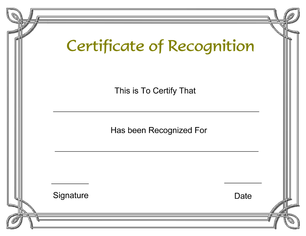 Free Employee Recognition Certificate Templates My Blog Wi In 2020 Certificate Of Recognition Template Certificate Of Achievement Template Awards Certificates Template