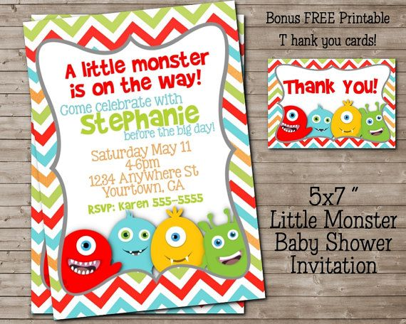Printable Diaper Raffle For Little Monster Baby Shower Or Birthday