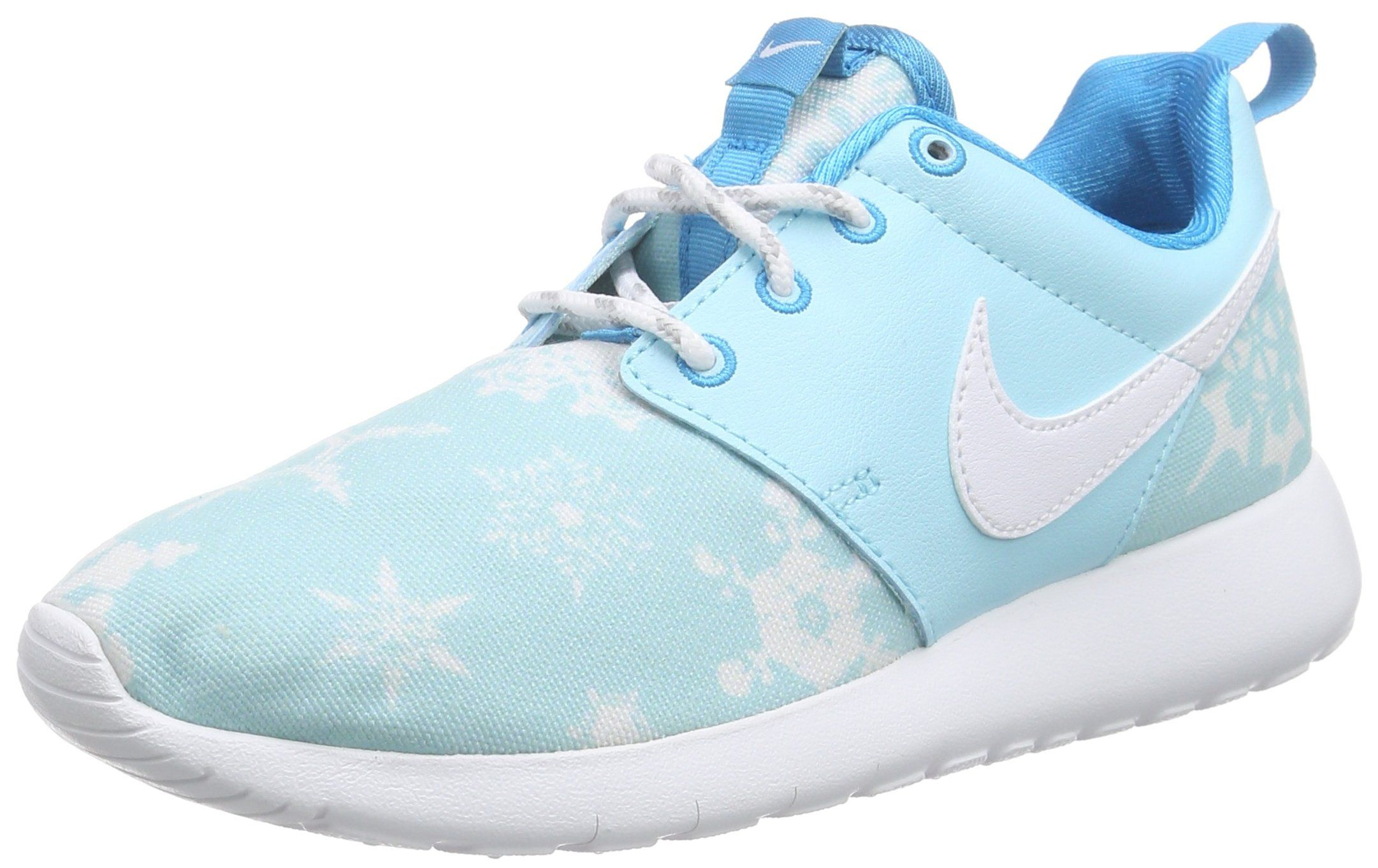 e158589384 Nike Roshe One Print Youth Round Toe Canvas Blue Sneakers (6 M US Big Kid