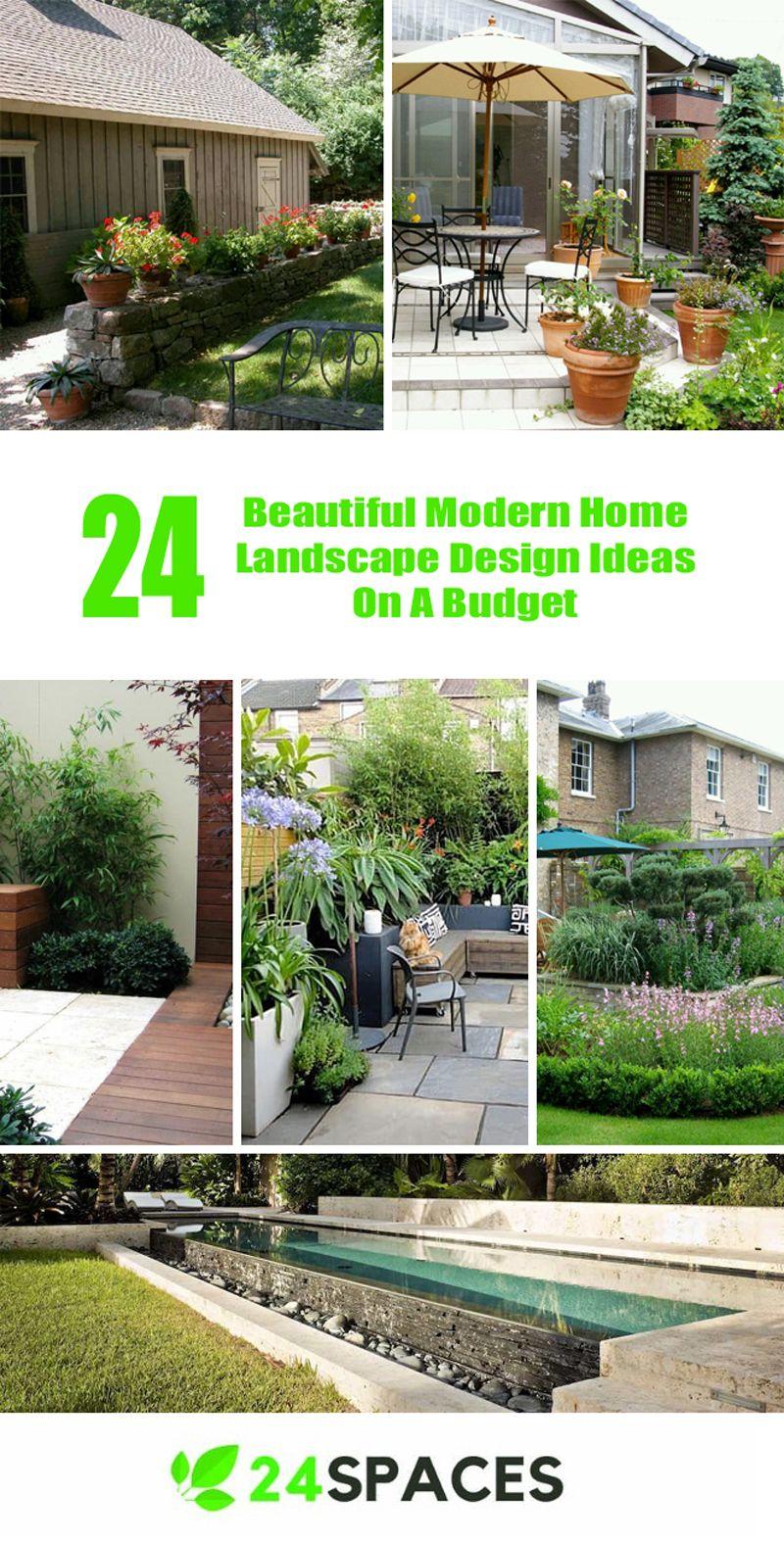 Landscape of house garden   Beautiful Modern Home Landscape Design Ideas On A Budget