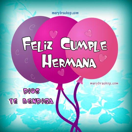 Tarjetas Cristianas de Feliz Cumpleaños para Hermana con frases bonitas y bellas Imágenes