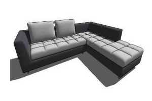 L Shaped Sofa Revit L Shaped Sofa Sectional Couch House Interior