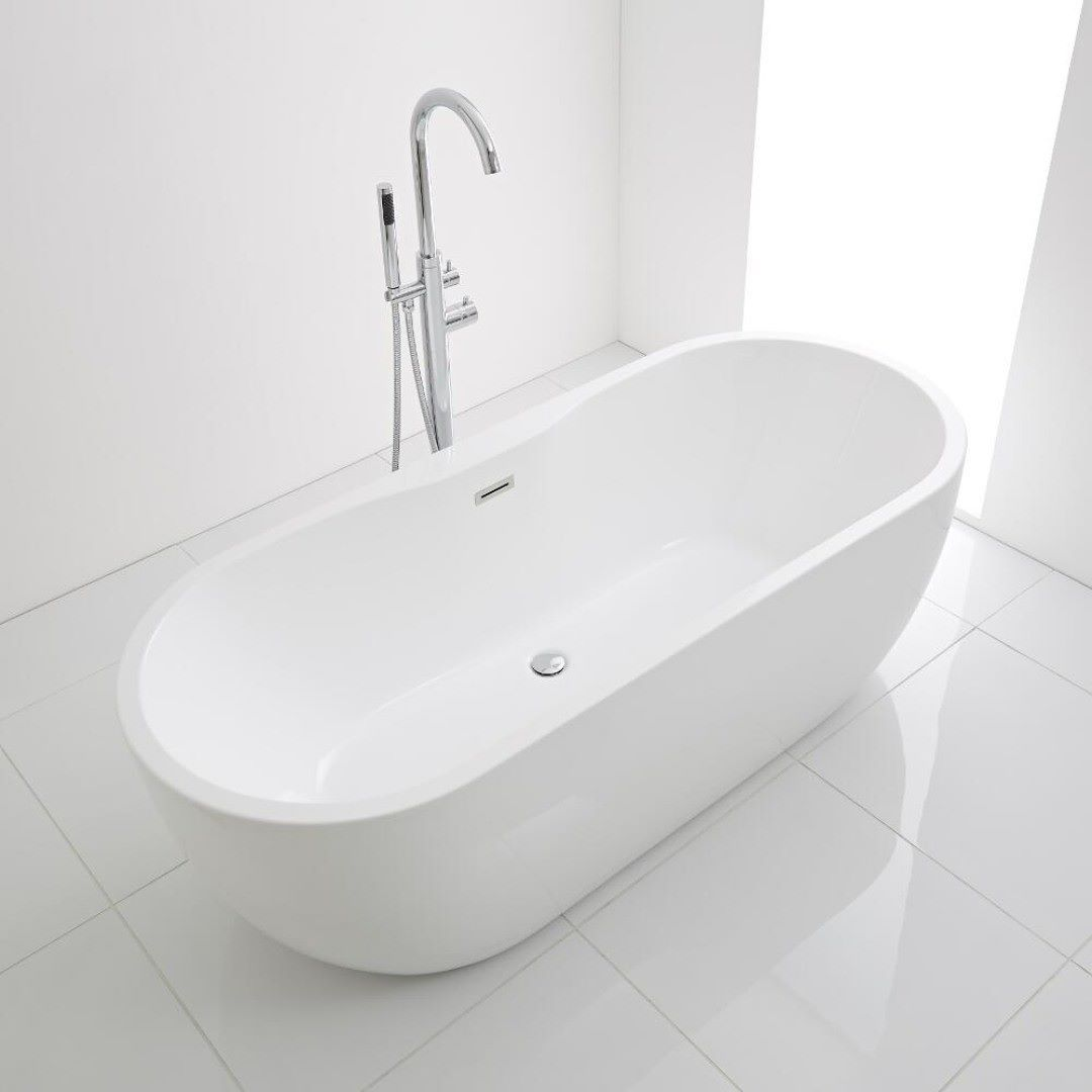 A freestanding bath such as the Milano Overton provides a great way ...