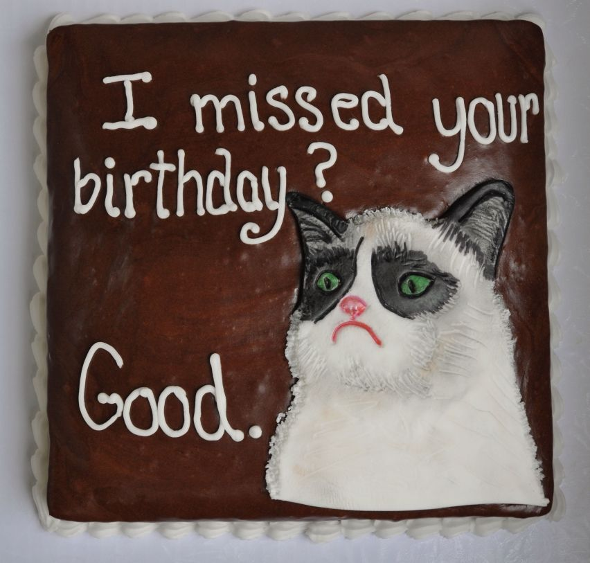 Grumpy Cat birthday cake by Piper Cakes MY CAKES Pinterest
