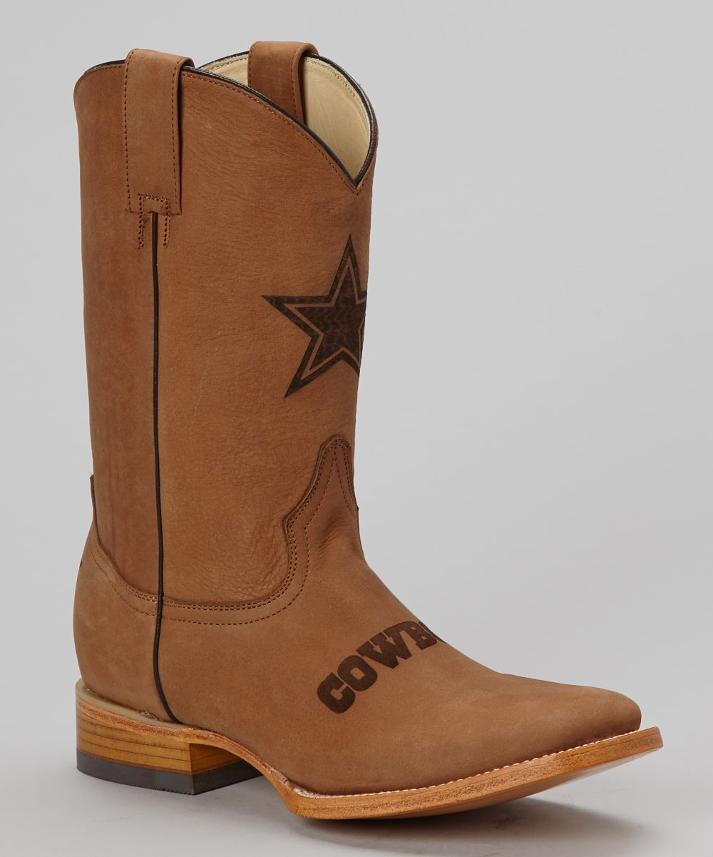 Old Pro Leather Goods Co. Dallas Cowboys Square-Toe Cowboy Boot ...