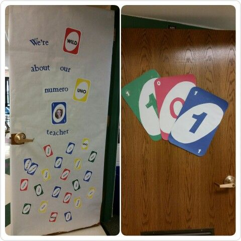 Uno Card Game Door Decoration With Kids Names On Card Template