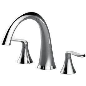 Deck Mount Bathtub Faucet.Jacuzzi Piccolo Chrome 2 Handle Fixed Deck Mount Bathtub
