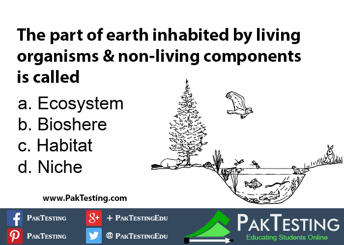 The part of the earth inhabited by living organisms and non living