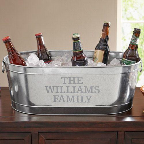 Home Beverage Tub Galvanized Beverage Tub Personalized Beer
