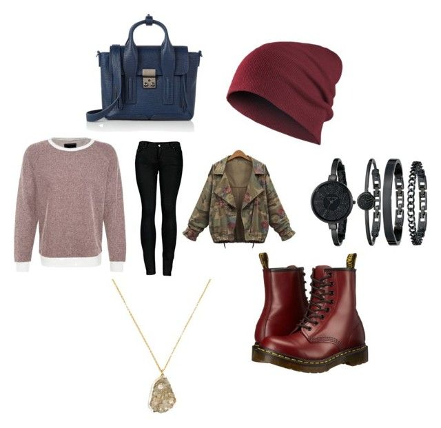 """Untitled #103"" by waliemna on Polyvore featuring 2LUV, Dr. Martens, 3.1 Phillip Lim, Anne Klein and BaubleBar"
