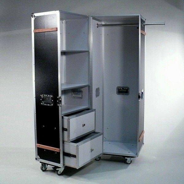 WardrobeCase Black Cabinet stylehiker be fabrikschick.de #FlightCase ...