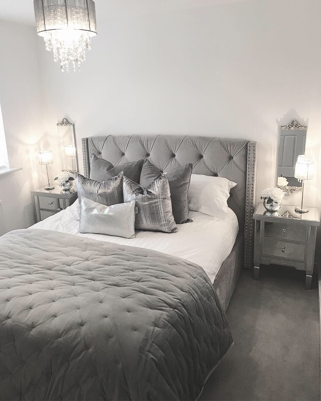 Surprising Safina Wing Back Double Ottoman Bed In Silver Grey Velvet Beatyapartments Chair Design Images Beatyapartmentscom