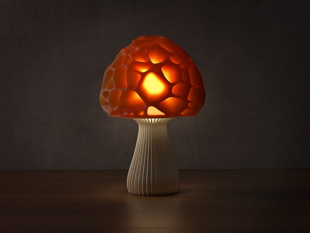 Download And Print I Recommend 20 30 Cm In Height High Quality Version Http Www Shapetizer Com Desig Mushroom Lamp Lamp Stuffed Mushrooms