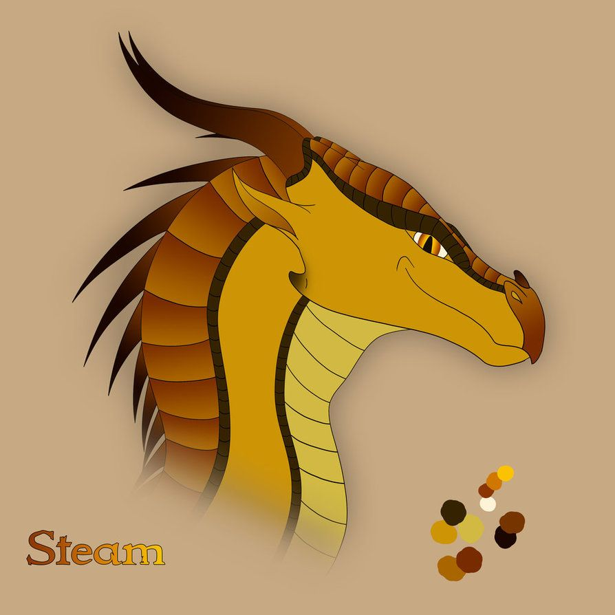 Steam-SkyWing/MudWing hybrid, male, bold and reckless