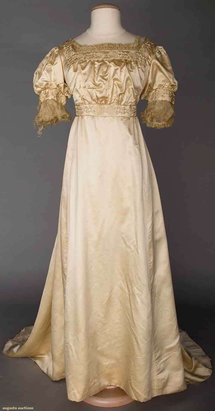 Aesthetic Evening Gown, 1905-1910, Augusta Auctions, April 9, 2014 - NYC