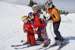 Ski school right next to the hotel and slopes in Austria. http://www.gartnerkofel.at/en
