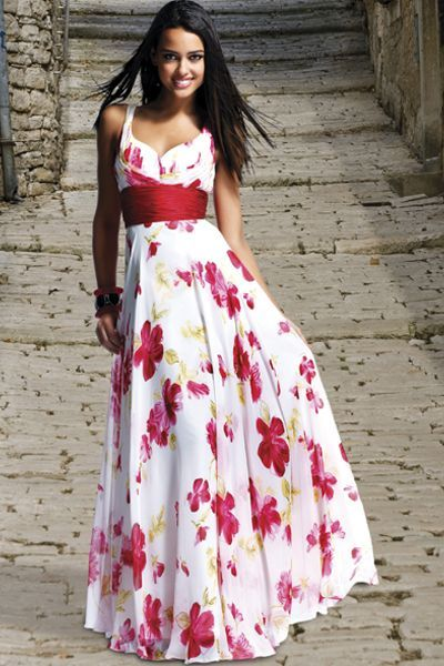 BG Haute White Red Floral Prom Dress C20012 at frenchnovelty.com ...
