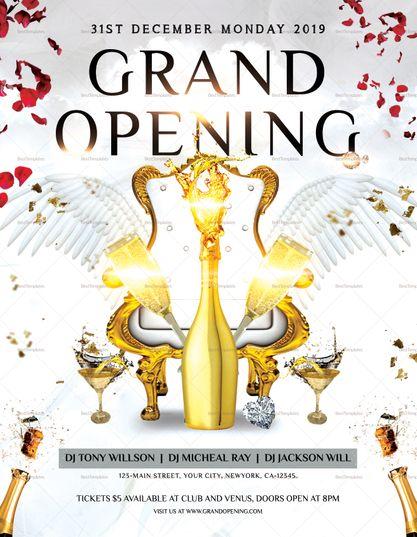 Premium Grand Opening Flyer Design Template