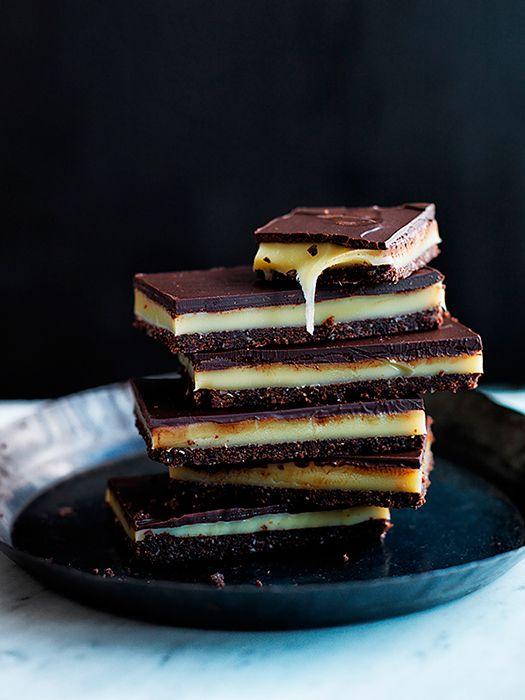 Creme brûlée-filled dark chocolate