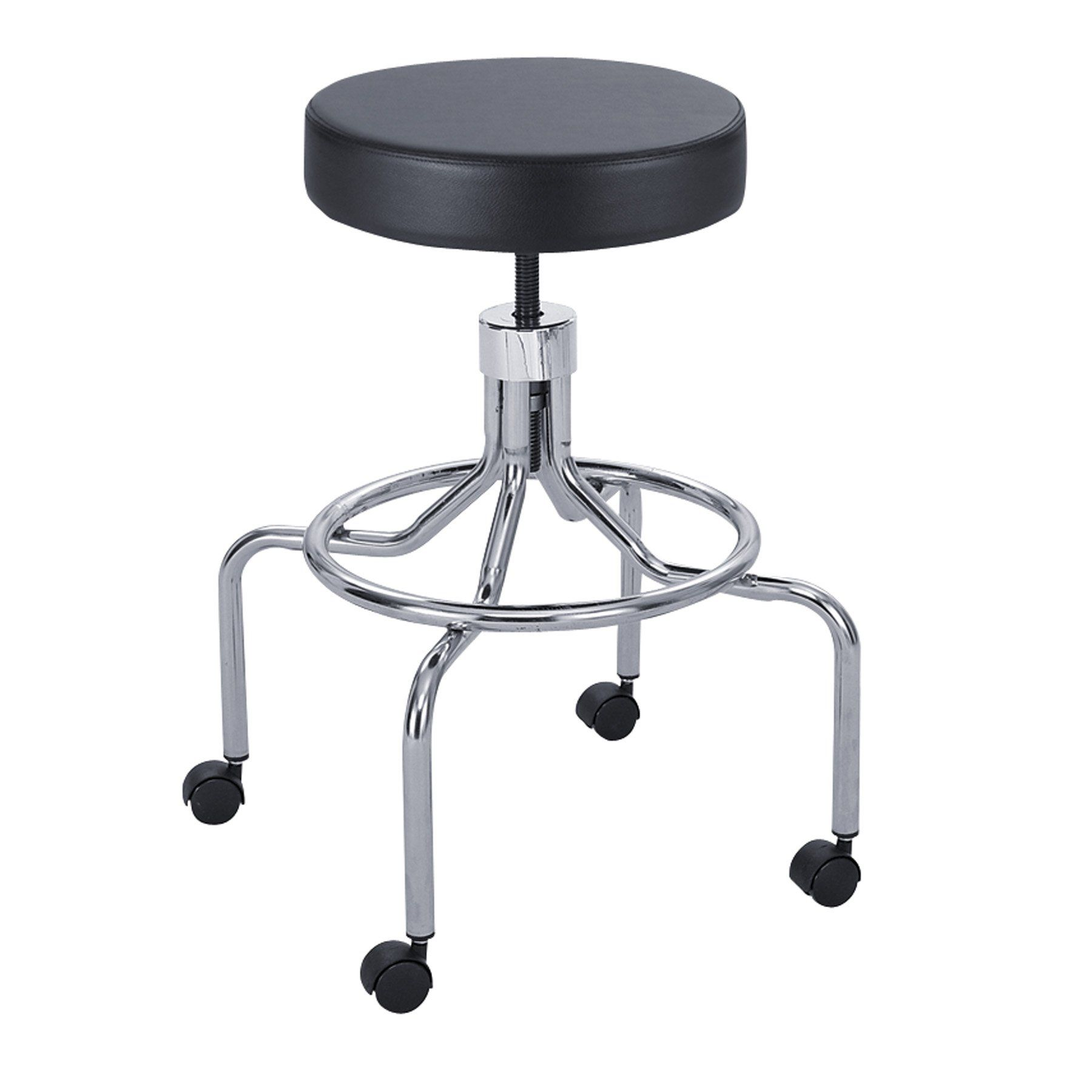 Safco Lab Stool, High Base With Screw Lift  Black