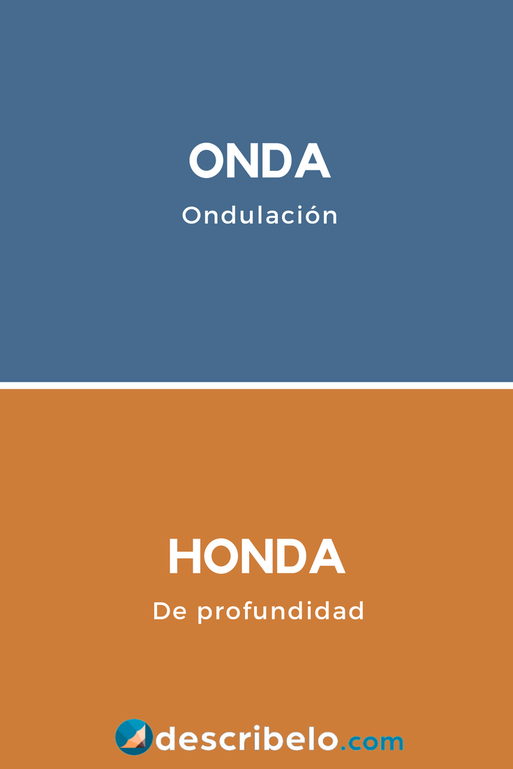 Onda U Honda Son Dos Palabras Distintas Pero Se Pronuncian