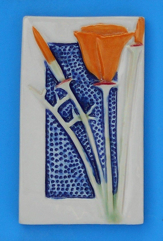 Art Nouveau Inspired California Poppy By Mason Larose: Arts And Crafts, Mission Style, California Poppy, Hand