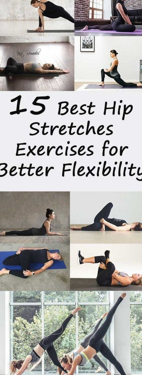 15 Best Hip Stretches Exercises for Better Flexibility #fitness #workout #fitnesstip #health