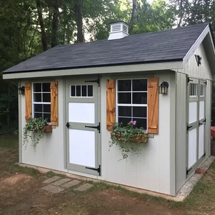 Alpine Structures Homestead 10 Ft W X 12 Ft D Wood Storage Shed Wayfair In 2020 Outdoor Storage Sheds Building A Shed Backyard Sheds