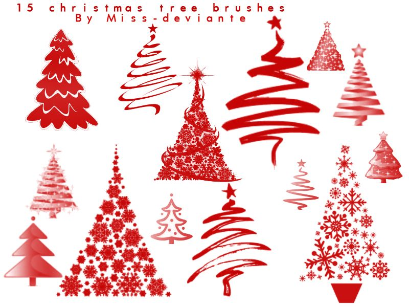 15 Christmas Tree Brushes Vectors Free Vector All Free Downloads Not For Commercial Use If You Download Please Fav Free Christmas Trendy Tree Holiday Design