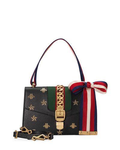 236f57c61cbd GUCCI | Sylvie Small Bee & Star Shoulder Bag | $2,980.00 | Gucci  shoulder bag