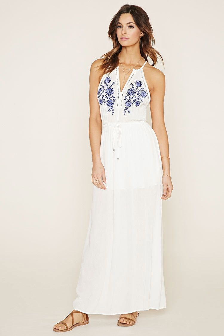 Layered maxi dress forever 21