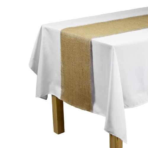 LinenTablecloth Jute Table Runner With Fringe Edge, 12.5 By 120 Inch  LinenTablecloth Http: