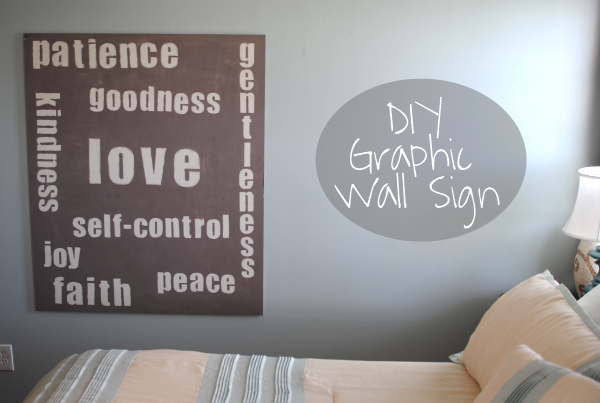 20 Dollar DIY Large Graphic Wall Sign- Made this for my bedroom :)