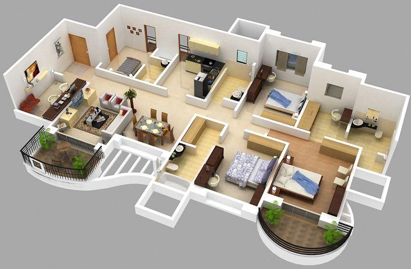 Floor Plans 3 Small House Design Plans House Plans Cottage Floor Plans
